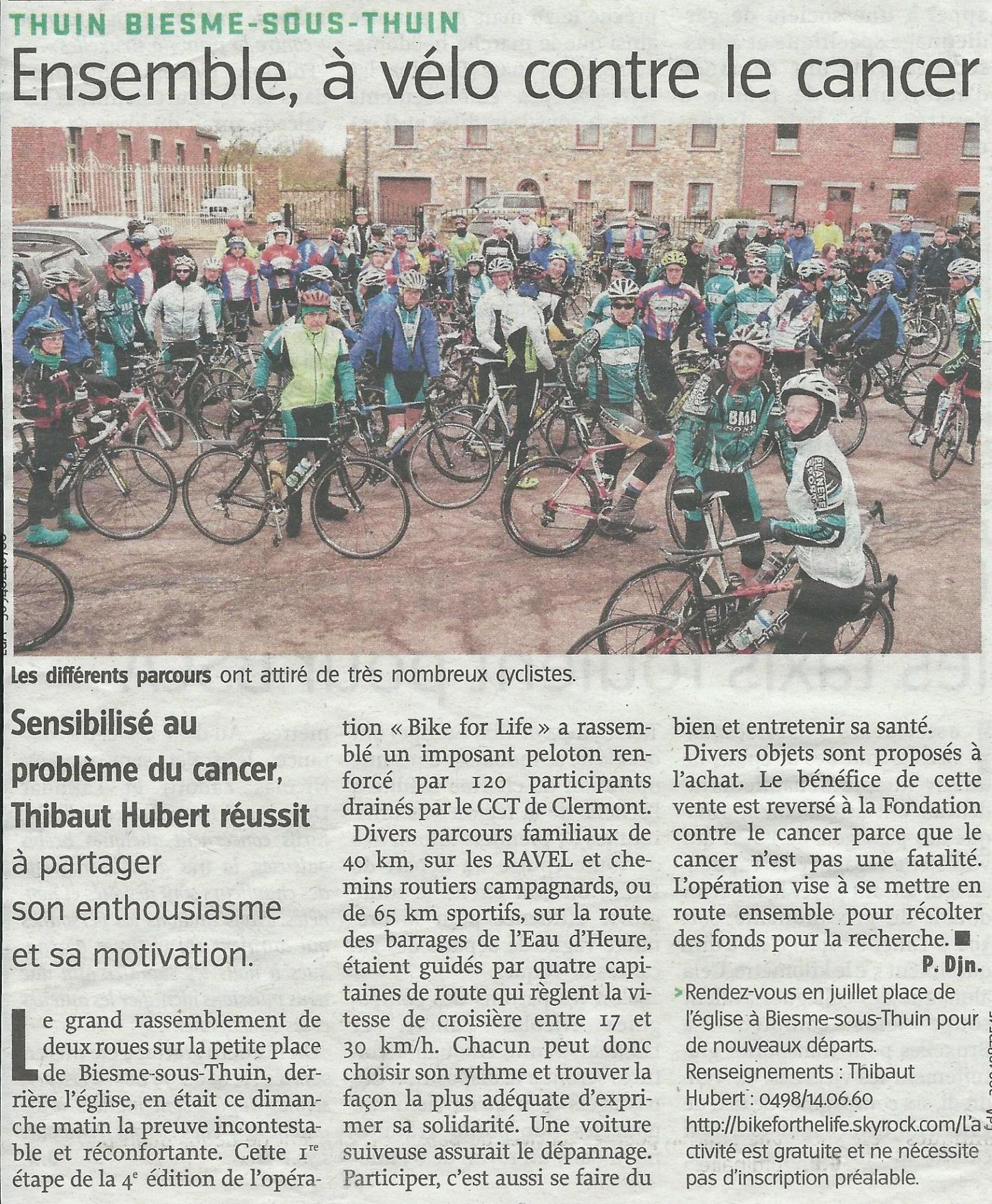 Bikeforlife l avenir 25 03 16